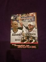 ANDRE AGASSI, ANDY RODDICK, BOB & MIKE BRYAN AUTOGRAPHED TENNIS PROGRAM