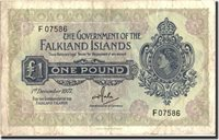 1 Pound Falkland Islands Banknote, 1977-12-01, Km:8c