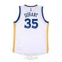 9c9fefbac41 Kevin Durant Autographed White Golden State Warriors Swingman Jersey with