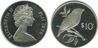 1978 10 Dollars Elisabeth Ii Iles Fidji Argent