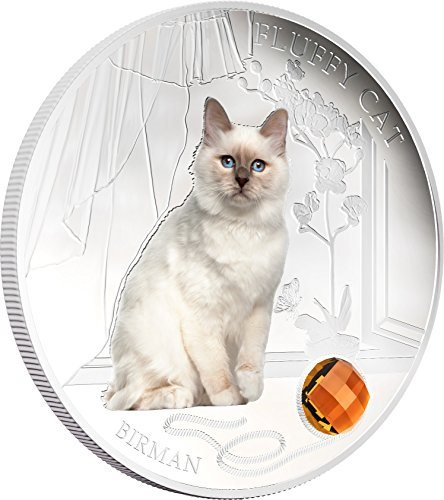 Fiji 2013 2$ Fluffy Cat IV Birman Dogs /& Cats 1Oz Sliver Coin