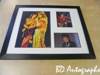 RONNIE WOOD - ROLLING STONES - FRAMED
