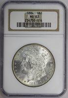 1884 Morgan Dollar NGC MS63