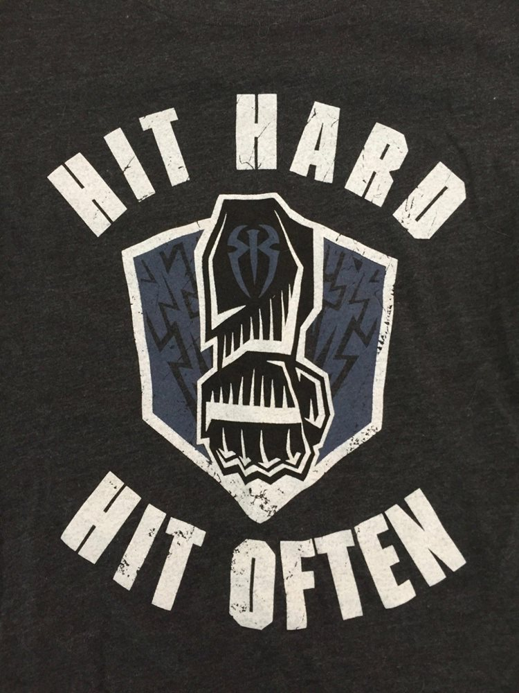 Roman Reigns Hit Hard Hit Often T Shirt Women's Small S WWE NXT The Shield