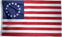 US Betsy Ross Flag 3X5 Ft American USA Historical 13 Star Flag Outdoor Indoor