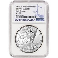 NGC MS70 New York Label 2015- American Silver Eagle W Early Releases