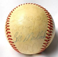 Willie McCovey Bill Madlock Jim Barr 1977 SF Giants Ball TEAM Signed Autographed