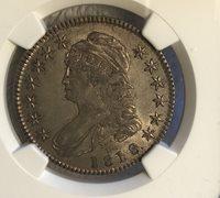 1818 Bust Half Dollar AU Details NGC O-106 R.3