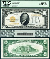 US Currency 1928 $10 Gold Certificate FR-2400