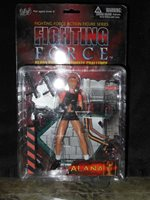 """Fighting Force Action Figures Series """"Alana"""" some damage to back of box"""