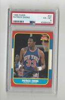 1986-87 Fleer #32 Patrick Ewing Rookie RC Knicks - PSA 6