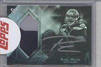 Russell Wilson Manufacturer ENCASED Uncirculated #18/35 (Football Card) 2015 Topps Diamond Autograph Patch #DAPC-RW