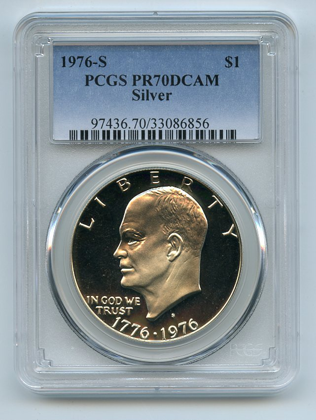 1976 S $1 T2 Ike Eisenhower Dollar Proof PCGS PR69DCAM