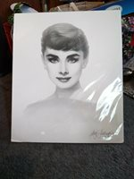 """20"""" X 24"""" Lithograph Of Audrey Hepburn By Gary Saderup Copyright 1996"""