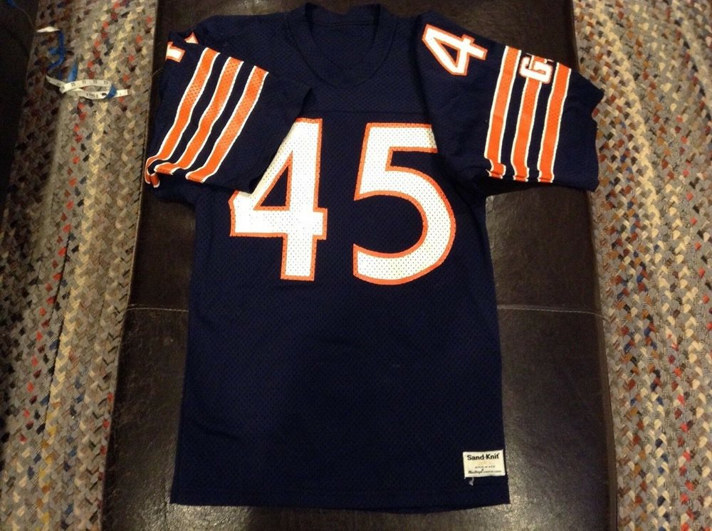 separation shoes 6bade c4307 VINTAGE SAND KNIT GARY FENCIK CHICAGO BEARS JERSEY MENS SMALL