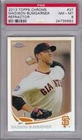MADISON BUMGARNER 2013 Topps Chrome Refractor #37 PSA 8 Pop 1 only 1 higher