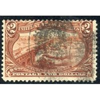 US 293 Early Commemorative Ave - F Used Rich Color - Sound cv 1050.00