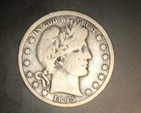 1895-O BARBER HALF DOLLAR 50c VG8