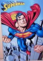 2002 SUPERMAN Tin Sign ~TM (C) DC COMICS~by Tin Box Company