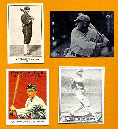 Shoeless Joe Jackson Baseball Card Lot 4 1916 Boston Store Reprint 1994 Upper Deck 1915 Cracker Jack Reprint 1940 Play Ball Reprint
