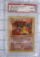 PSA 9 1ST EDITION SHADOWLESS CHARIZARD HOLO 4/102 BASE SET POKEMON CARD