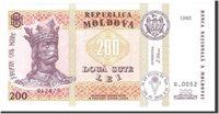200 Lei 1992 Moldova Banknote, Undated, Km:16a