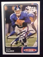 JESSE PALMER 2003 TOPPS TOTAL Autographed Signed FOOTBALL Card GIANTS BACHELOR