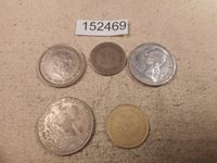 Lot - Five World Coins Mixed Dates Countries Denominations Free SH - # 152469