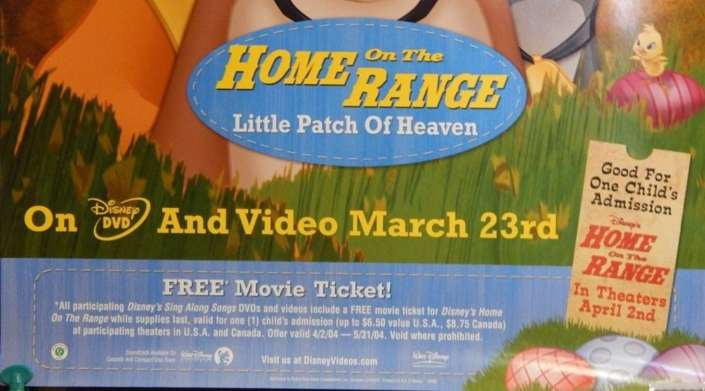 Disney Sing Along Songs Home On The Range Little Patch Of Heaven Video Poster Ss
