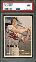 1957 TOPPS HAL SMITH #41 MINT PSA 9