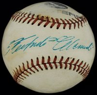 Spectacular Roberto Clemente Single Signed Autographed Baseball PSA Graded 7.5