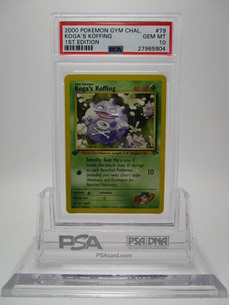 MINT Pokemon KOGA/'S KOFFING 79//132 1st Edition Gym Challenge