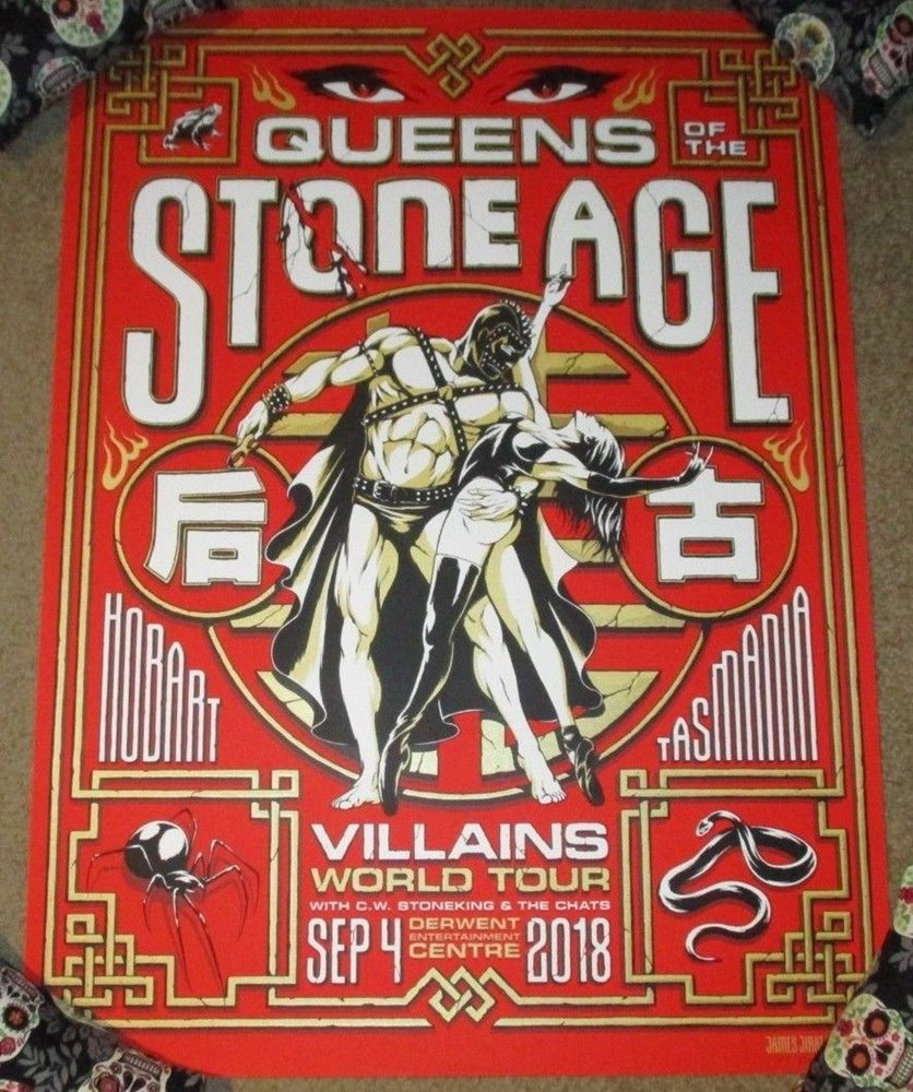 queens of the stone age concert gig poster hobart 9 4 18 2018 james click to enlarge