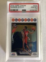 2008 Topps Chrome #209 DeANDRE JORDAN Rookie PSA 10 GEM MT CLIPPERS Rc