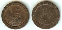 "English 2 Penny ""Cartwheel"" 1797 EF+"