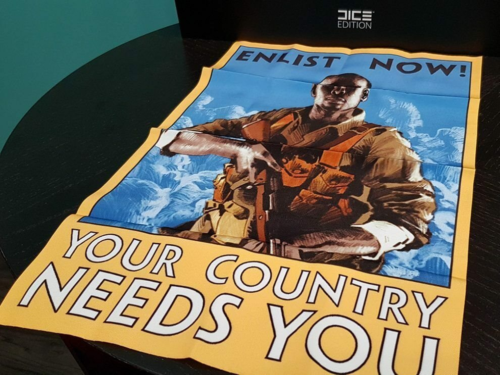 """Battlefield 1 Collector/'s Edition /""""Enlist Now!/"""" Cloth Poster Cavalry Patch NEW"""