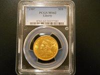 1907 $10 Gold Eagle Liberty PCGS MS 62