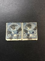 US Scott #281 5c Grant USED Pair 1898