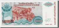 5 Milliard Dinara 1993 Kroatien Banknote, Undated, Km:r27s