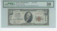 "1929 $10 NBN CHARTER #2772 ""THE COLUMBIA NATIONAL BANK OF DAYTON WASHINGTON"""