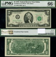 1976 $2 Star Dallas District Federal Reserve Note FR# 1935-K* Uncirculated