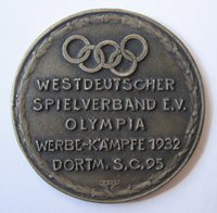 Participation Medal German Promotional Event for Los Angeles 1932 Olympic Games