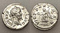 AC#CH-P Ancient Roman Septimius Severus AR Denarius Silver Coin 202 AD 3.3g 19mm