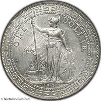 1909-B Trade Dollar Pridmore-19 Great Britain PCGS AU58 Great Britain