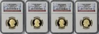 2007-S 4pc Presidential Dollar Set $1 PF 69 Ultra Cameo NGC (4 Coins)