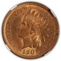 SOLD 1909 S Indian Head Cent NGC Mint State 62 Red-Brown