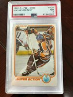 1981 O-Pee-Chee #125 Wayne Gretzky IA PSA 7 NM-MT+!! Oilers NHL