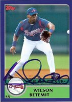 WILSON BETEMIT AUTOGRAPHED 2003 TOPPS #T 133, BRAVES