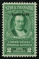Scott RD324 1950 $2 bright green (Thomas Ewing) mint, VF