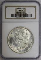 1888 Morgan Dollar NGC MS63